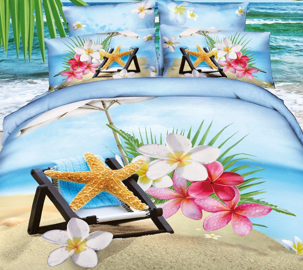 Комплект белья Коллекция Пляж, 2-спальный, наволочки 50x70. СР2/50/ОЗ/плСР2/50/ОЗ/пл