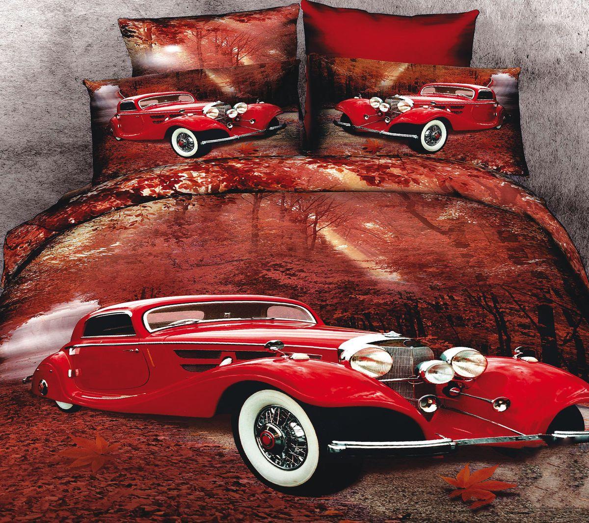 Комплект белья Коллекция Ретро-авто, 2-спальный, наволочки 50x70. СР2/50/ОЗ/раСР2/50/ОЗ/ра