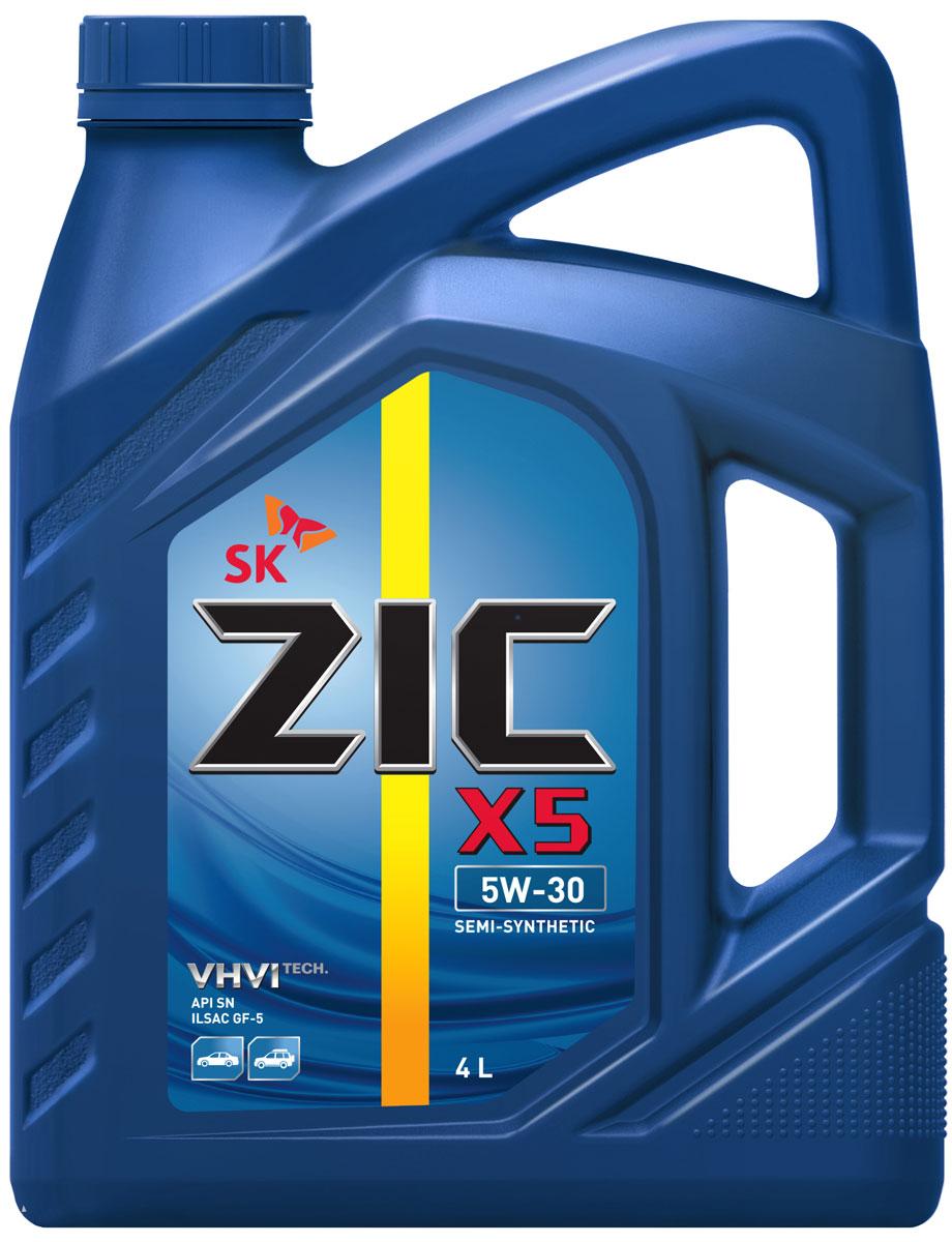 Масло моторное ZIC X5, полусинтетическое, класс вязкости 5W-30, API SN, 4 л. 162621162621Всесезонное полусинтетическое моторное масло ZIC X5 предназначено для бензиновых двигателей и обеспечивает надежную защиту. Изготовлено на основе базового масла YUBASE и сбалансированного пакета современных присадок. Плотность при 15°C: 0,8467 г/см3. Температура вспышки: 230°С. Температура застывания: -42,5°С. Индекс вязкости: 170.