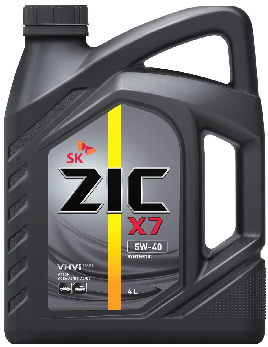 Масло моторное ZIC X7, синтетическое, класс вязкости 5W-40, API SN, 4 л. 162662162662ZIC X7 - всесезонное синтетическое моторное масло премиум-класса, изготовленное на основе базового масла высочайшего качества YUBASE и сбалансированного пакета современных присадок. Синтетическая основа и комплекс специальных присадок гарантируют дополнительный ресурс эксплуатационных характеристик, что позволяет увеличивать интервал замены масла в случае наличия рекомендации производителя автомобиля. Плотность при 15°C: 0,8513 г/см3. Температура вспышки: 222°С. Температура застывания: -42,5°С. Индекс вязкости: 173.
