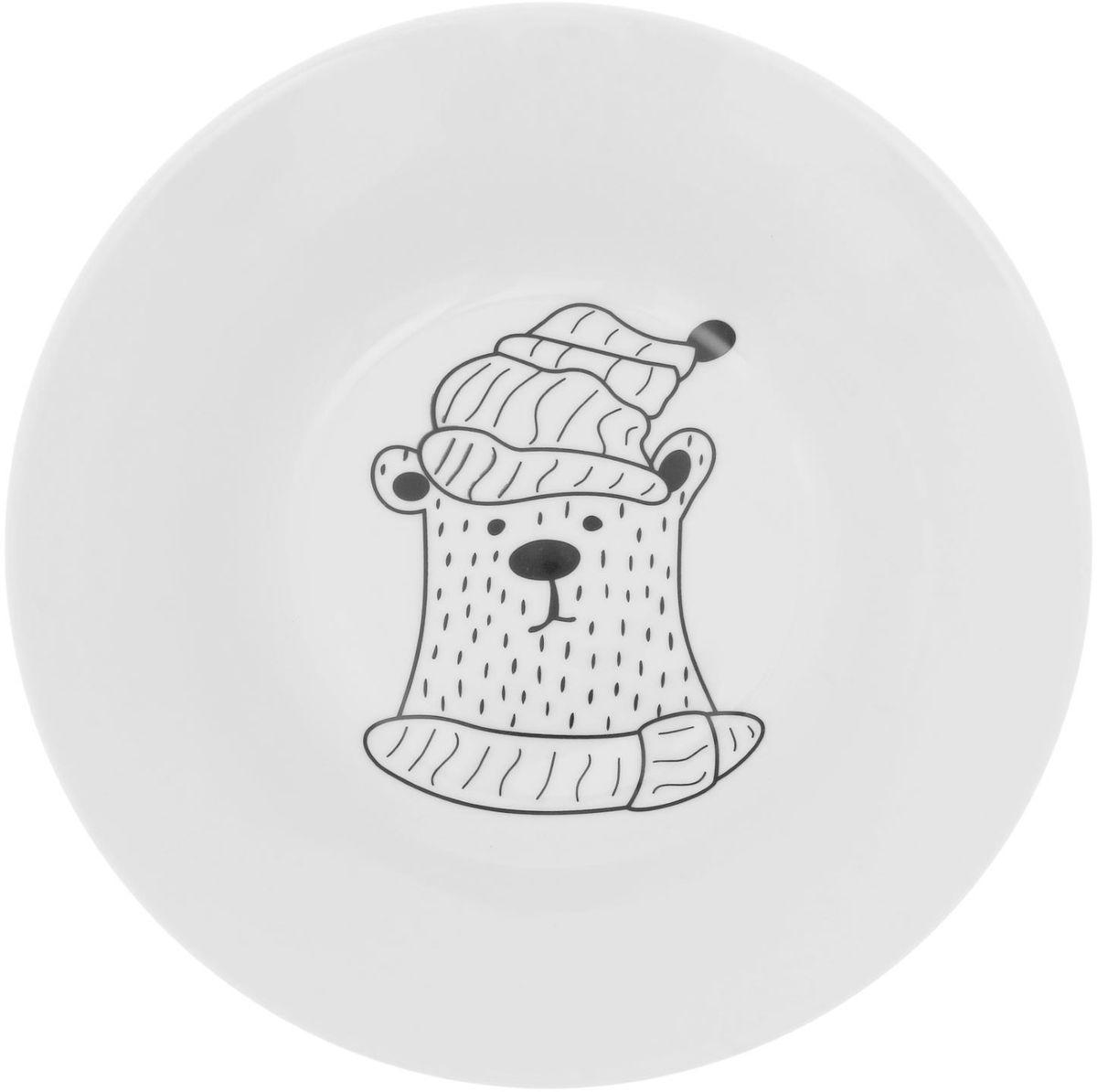Тарелка глубокая Сотвори чудо Полярный мишка, диаметр 20 см1828171Хотите обновить интерьер кухни или гостиной? Устраиваете необычную фотосессию или тематический праздник? А может, просто ищете подарок для близкого человека? Посуда « Сотвори Чудо» — правильный выбор в любой ситуации. Её достоинства: изящный фаянс нежного сливочного цвета; стойкость краски; пригодность для посудомоечных машин.