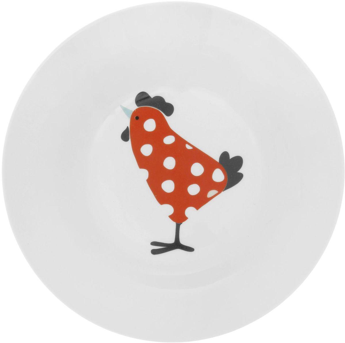 Тарелка глубокая Сотвори чудо My Chicken, диаметр 20 см1828172Хотите обновить интерьер кухни или гостиной? Устраиваете необычную фотосессию или тематический праздник? А может, просто ищете подарок для близкого человека? Посуда « Сотвори Чудо» — правильный выбор в любой ситуации. Её достоинства: изящный фаянс нежного сливочного цвета; стойкость краски; пригодность для посудомоечных машин.