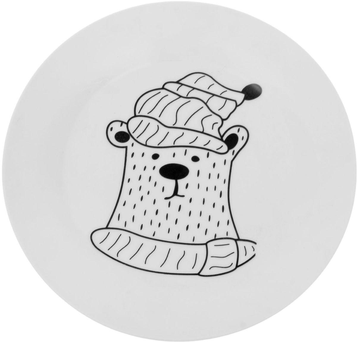 Тарелка Сотвори чудо Полярный мишка, диаметр 22,5 см1828184Хотите обновить интерьер кухни или гостиной? Устраиваете необычную фотосессию или тематический праздник? А может, просто ищете подарок для близкого человека? Посуда « Сотвори Чудо» — правильный выбор в любой ситуации. Её достоинства: изящный фаянс нежного сливочного цвета; стойкость краски; пригодность для посудомоечных машин.