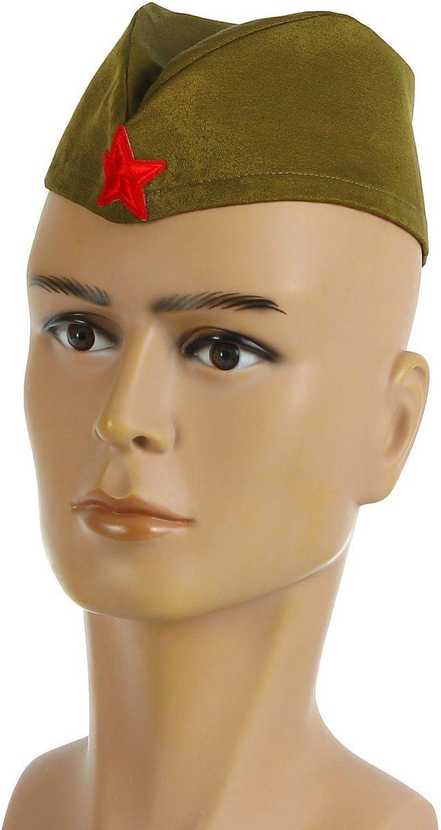 Пилотка Страна Карнавалия Солдат, размер 56-581876286Военный костюм нельзя представить без форменного головного убора. Он превращает любого мужчину в статного офицера с идеальной выправкой. Пилотка Солдат для взрослых станет изюминкой вашего образа, органичным его завершением. Она дополнит ваш наряд к 23 Февраля, Дню Победы — любому патриотичному празднику. Стилизованная пилотка отлично подойдёт для участия в театральных постановках, тематических представлениях, торжественных шествиях. Размер пилотки: 56?58 см.