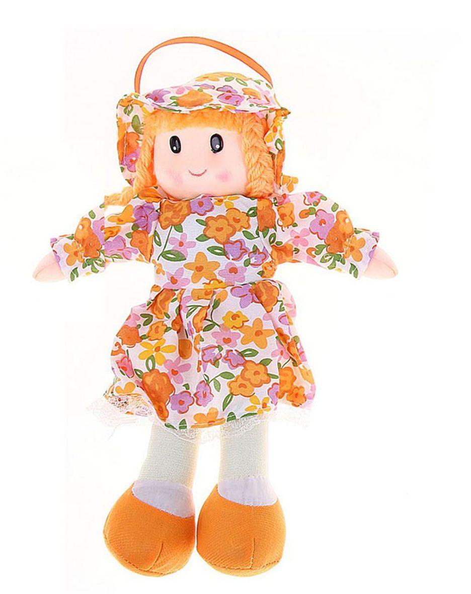 Sima-land Мягкая кукла в платье и шляпке цвет оранжевый 328067