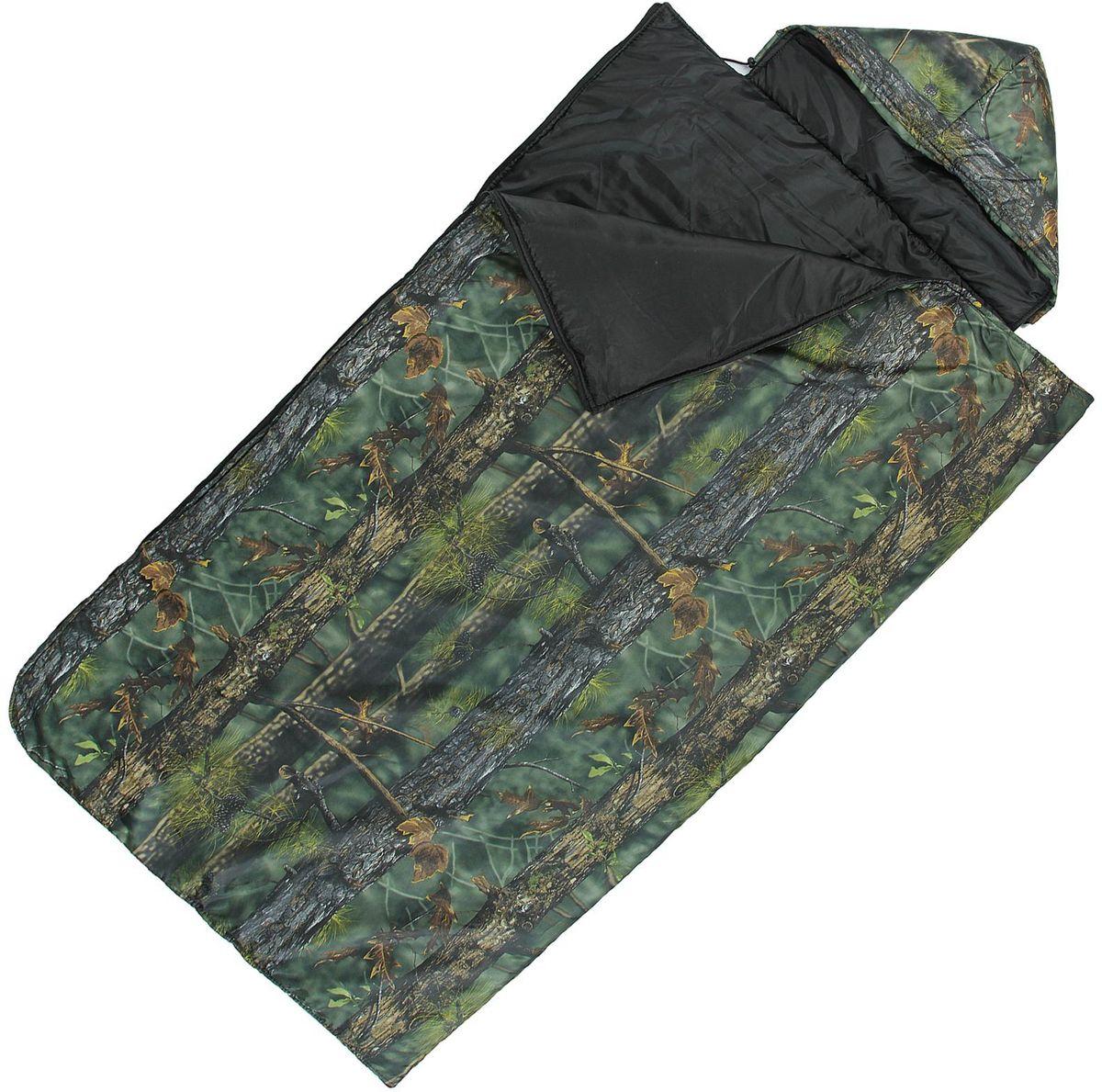 Спальный мешок Onlitop Богатырь, цвет: хаки, правосторонняя молния. 915475915475Комфортный, просторный и очень теплый 3-х сезонный спальник предназначен для походов и для отдыха на природе не только в летнее время, но и в прохладные дни весенне-осеннего периода. В теплое время спальный мешок можно использовать как одеяло (в том числе и дома).