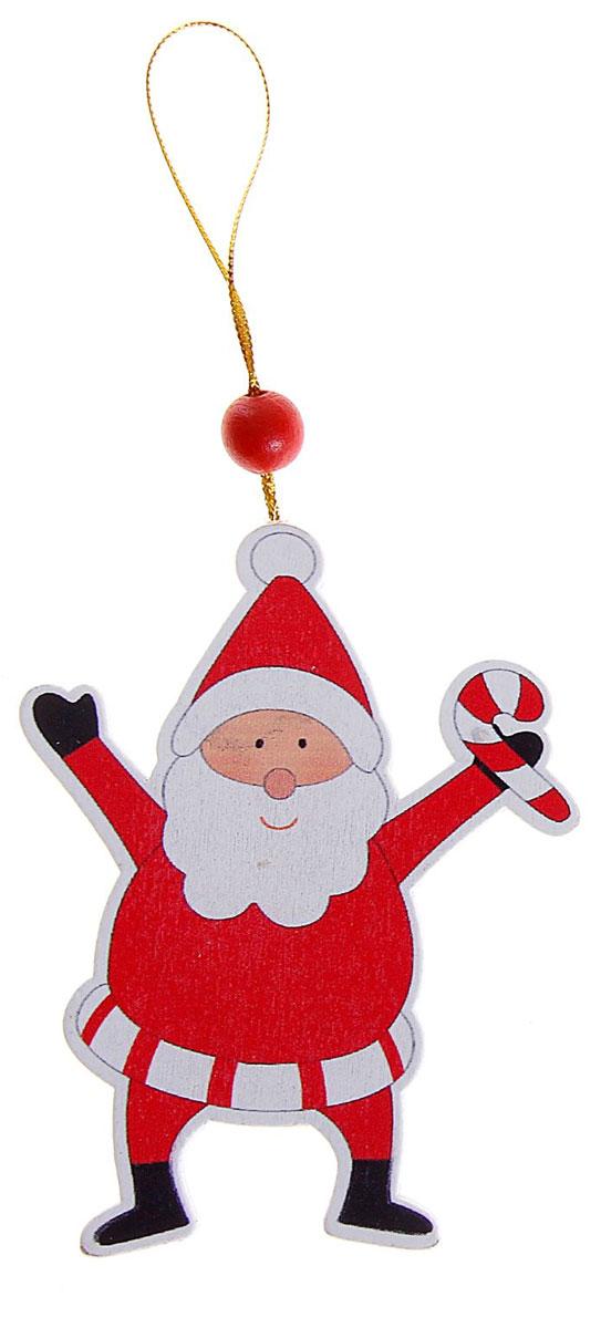 Новогоднее подвесное украшение Sima-land Веселый Дед мороз. 154262154262_Дед морозНовогоднее украшение Sima-land из дерева отлично подойдет для декорации вашего дома и новогодней ели. Украшение оснащено специальной текстильной петелькой для подвешивания. Елочная игрушка - символ Нового года. Она несет в себе волшебство и красоту праздника. Создайте в своем доме атмосферу веселья и радости, украшая всей семьей новогоднюю елку нарядными игрушками, которые будут из года в год накапливать теплоту воспоминаний.