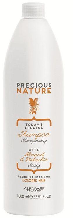 Alfaparf Precious Nature Pure Color Protection Shampoo Шампунь для окрашенных волоc, 1000 мл12519Мягкий бережно очищающий шампунь сохраняет глубину и насыщенность цвета, поддерживая блеск и качество волос. Уникальная формула, в состав которой входит эссенция фисташки*, известная своими редкими антиоксидантными и фотозащитными свойствами, а также масло сладкого миндаля, продлевает интенсивность цветовых нюансов и блеск, защищает структуру волос. *100% натуральный ингредиент. НЕ СОДЕРЖИТ: сульфатов, парабенов, парафинов, минеральных масел, синтетических веществ, аллергенов *гипоаллергенные экстракты растений и ароматизаторы Объем: 1000 мл