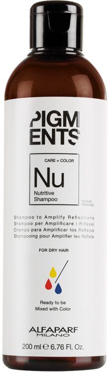 Alfaparf Pigments Nutritive Shampoo Шампунь питающий для сухих волос, 200 мл14096Мягкий шампунь предназначен для питания сухих волос. Специально разработанная формула поддерживает цвет и гарантирует стабильность пигмента в смеси. Входящие в состав растительные масла, богатые жирными кислотами, витаминами А и Е обеспечивают сбалансированное питание сухих и пушащихся волос, делая их мягкими и наполненными жизненной силой. БЕЗ СУЛЬФАТОВ И ПАРАБЕНОВ Объем: 200 мл