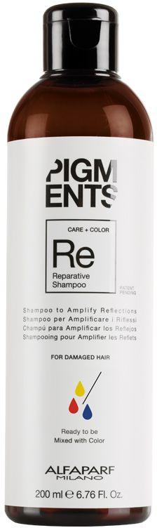 Alfaparf Pigments Reparative Shampoo Шампунь восстанавливающий для поврежденных волос, 200 мл14097Мягкий шампунь предназначен для восстановления поврежденных волос. Специально разработанная формула поддерживает цвет и гарантирует стабильность пигмента в смеси. Входящие в состав пептиды шелка бережно укрепляют структуру, уделяя особое внимание поврежденным участкам волоса, уплотняют и укрепляют кутикулу. Волосы становятся мягкими, блестящими и послушными. Объем: 200 мл