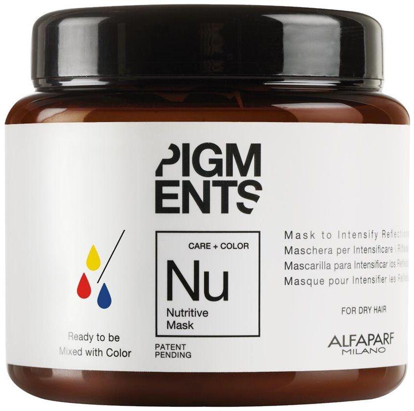 Alfaparf Pigments Nutritive Mask Маска питающая для сухих волос, 200 млalfa14099Маска предназначена для питания сухих волос. Специально разработанная формула поддерживает цвет и гарантирует стабильность пигмента в смеси. Входящие в состав растительные масла, богатые жирными кислотами, витаминами А и Е обеспечивают сбалансированное питание сухих и пушащихся волос, делая их мягкими и наполненными жизненной силой. Объем: 200 мл