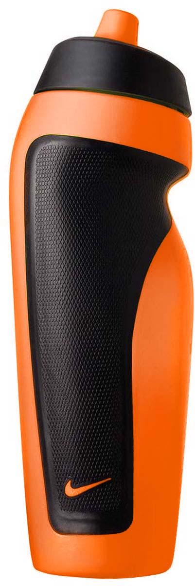 Бутылка для воды Nike Sport Water Bottle, цвет: черный, оранжевый, 600 мл9.341.009.710.Герметичный клапан не позволяет воде расплескиваться. Объём: 600мл. Ассиметричный дизайн для одной руки обеспечивает удобство при использовании во время тренировок и в спортивном зале.