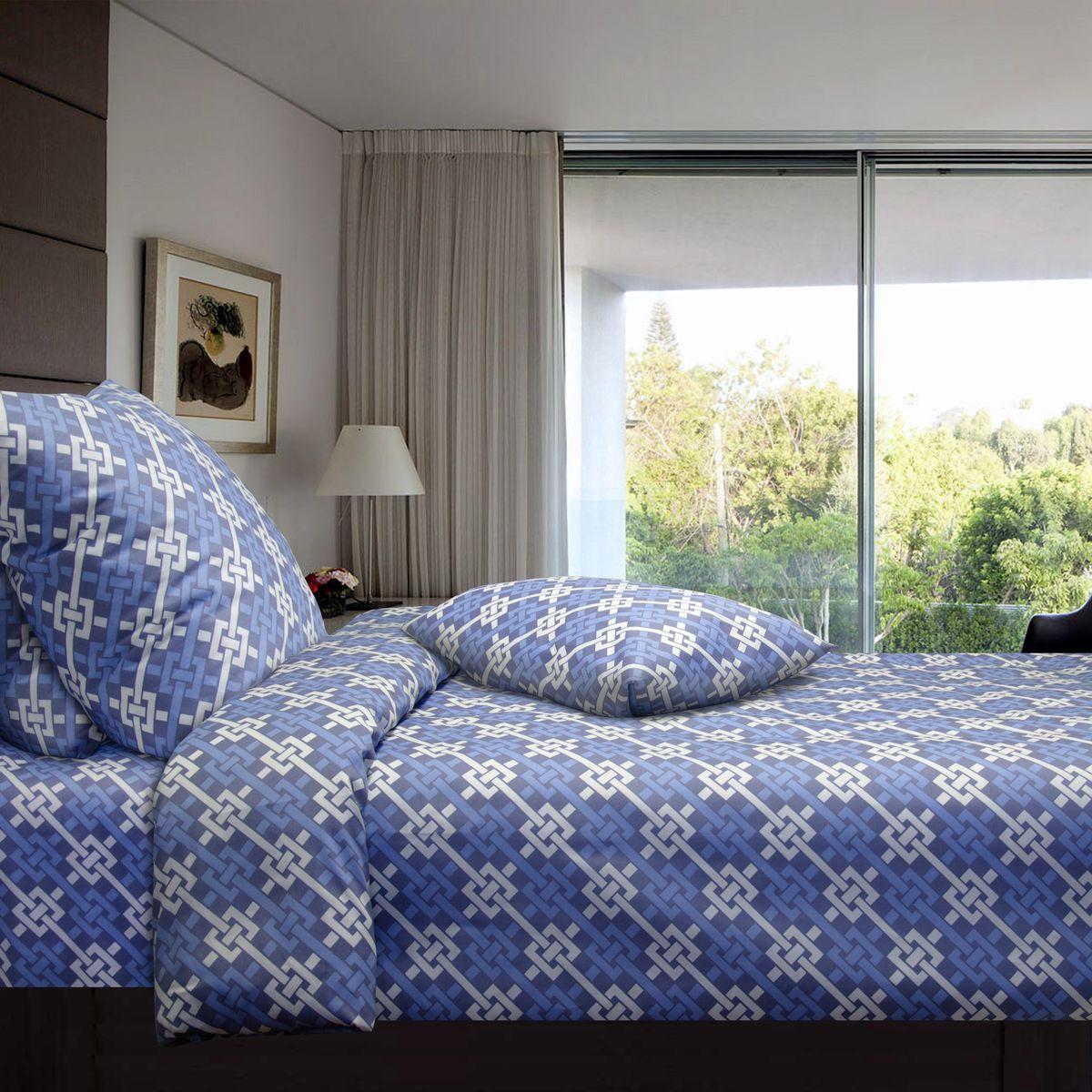 Комплект белья Коллекция Синева, 2,5-спальный, наволочки 50x70. СП2,5/50/ОЗ/синеваСП2,5/50/ОЗ/синева
