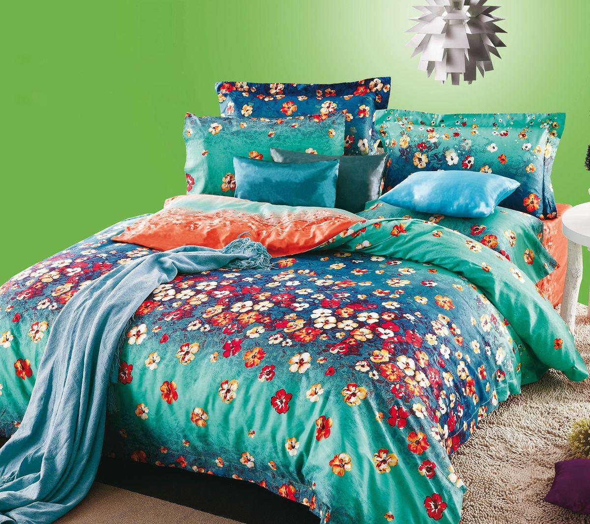 Комплект белья Коллекция Цветочная поляна 2, 2-спальный, наволочки 50x70. СЛ2/50/ОЗ/цв2СЛ2/50/ОЗ/цв2