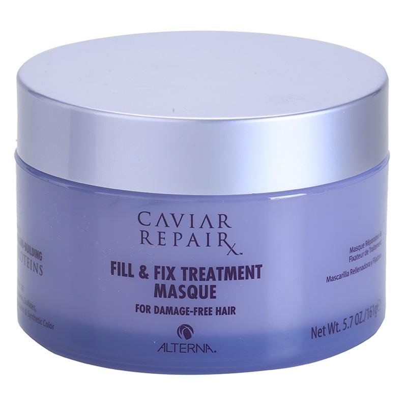 Alterna Интенсивная маска Молекулярное восстановление структуры Caviar Repair Rx Micro-Bead Fill & Fix Treatment Masque 161 г67161Маска глубоко восстанавливает волосы благодаря микрокапсулам протеина, которые питают и укрепляют каждую прядь, при этом облегчая процесс укладки. Эти сильнодействующие ингредиенты помогают регенерировать структуру волос изнутри. Они заполняют все повреждения кутикулы волоса, которые вызваны негативными факторами. Маска питает и увлажняет волосы, а так же делает волосы более послушными при укладке. После применения волосы становятся идеально мягкими, блестящими и полностью восстановленными. Не содержат: парабенов, глютенов, хлорида натрия, флататов и синтетических красителей. При этом производство не наносит вред окружающей среде. Не тестируется на животных. Способ применения: Наносить на чистые волосы. Перед использованием удалить лишнюю воду. Оставить на 3 минуты. Тщательно промыть волосы. Использовать ежедневно или несколько раз в неделю для интенсивного восстановления. Для максимального эффекта рекомендуется использовать совместно с Caviar Repair RX Instant...