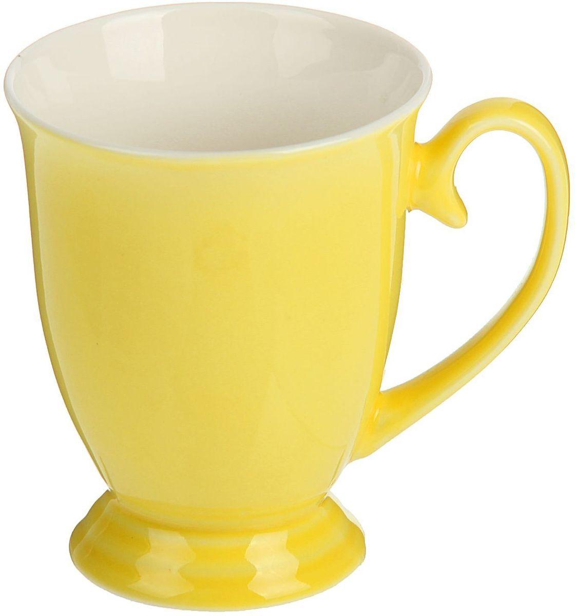 Кружка Доляна Венеция, цвет: желтый, 300 мл1625305Хотите обновить интерьер кухни или гостиной? Устраиваете необычную фотосессию или тематический праздник? А может, просто ищете подарок для близкого человека? Кружка станет любимым аксессуаром на долгие годы. Относитесь к изделию бережно, и оно будет дарить прекрасное настроение каждый день!