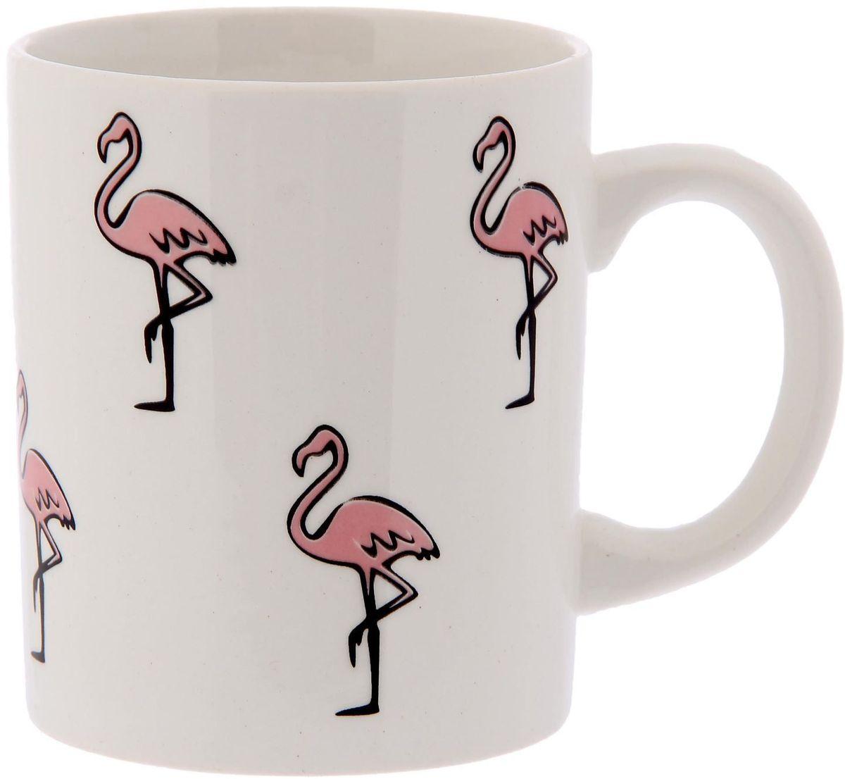 Кружка Сотвори чудо Розовый фламинго, 320 мл2277841Хотите обновить интерьер кухни или гостиной? Устраиваете необычную фотосессию или тематический праздник? А может, просто ищете подарок для близкого человека? Кружка станет любимым аксессуаром на долгие годы. Относитесь к изделию бережно, и оно будет дарить прекрасное настроение каждый день!