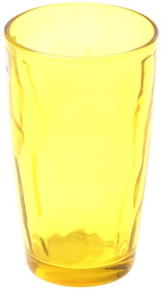 Стакан Доляна Венский вальс, цвет: желтый, 340 мл335152Стеклянные изделия серии «Венский вальс» подходят для повседневного использования. Стакан из стекла, окрашенного в яркий цвет методом напыления, порадует каждого ценителя оригинальности. Достоинства: оригинальный дизайн делает предметы украшением интерьера; материал не впитывает запахов; поверхность легко отмывается. Чтобы предметы радовали внешним видом как можно дольше, соблюдайте правила ухода: мойте только вручную; избегайте использования высокоабразивных средств и металлических губок; не допускайте падений и ударов. Окружайте себя красивой посудой и будьте в хорошем настроении!