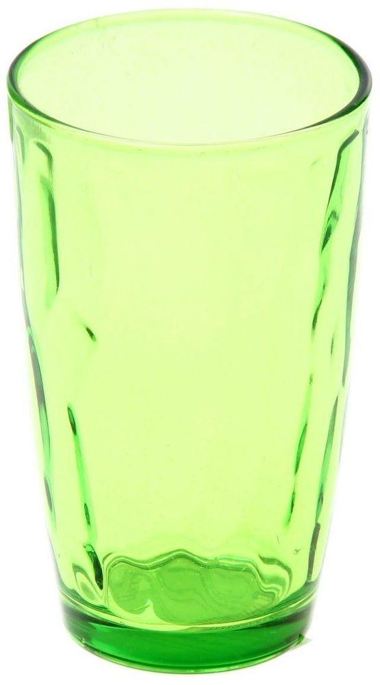 Стакан Доляна Венский вальс, цвет: зеленый, 340 мл335154Стеклянные изделия серии «Венский вальс» подходят для повседневного использования. Стакан из стекла, окрашенного в яркий цвет методом напыления, порадует каждого ценителя оригинальности. Достоинства: оригинальный дизайн делает предметы украшением интерьера; материал не впитывает запахов; поверхность легко отмывается. Чтобы предметы радовали внешним видом как можно дольше, соблюдайте правила ухода: мойте только вручную; избегайте использования высокоабразивных средств и металлических губок; не допускайте падений и ударов. Окружайте себя красивой посудой и будьте в хорошем настроении!