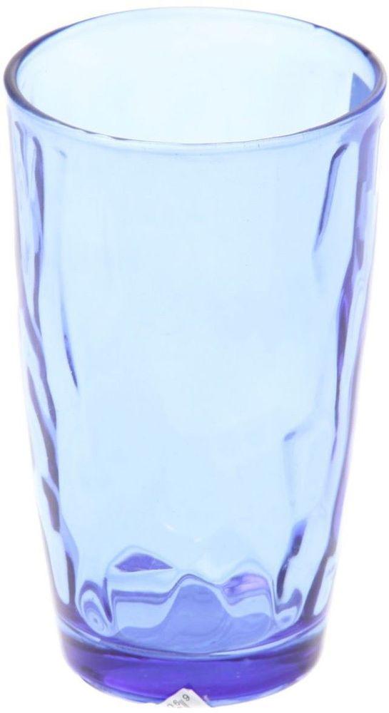 Стакан Доляна Венский вальс, цвет: синий, 340 мл335155Стеклянные изделия серии «Венский вальс» подходят для повседневного использования. Стакан из стекла, окрашенного в яркий цвет методом напыления, порадует каждого ценителя оригинальности. Достоинства: оригинальный дизайн делает предметы украшением интерьера; материал не впитывает запахов; поверхность легко отмывается. Чтобы предметы радовали внешним видом как можно дольше, соблюдайте правила ухода: мойте только вручную; избегайте использования высокоабразивных средств и металлических губок; не допускайте падений и ударов. Окружайте себя красивой посудой и будьте в хорошем настроении!