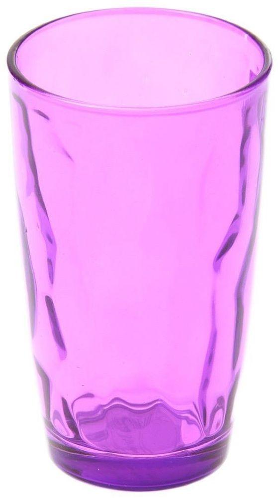 Стакан Доляна Венский вальс, цвет: фиолетовый, 340 мл335156Стеклянные изделия серии «Венский вальс» подходят для повседневного использования. Стакан из стекла, окрашенного в яркий цвет методом напыления, порадует каждого ценителя оригинальности. Достоинства: оригинальный дизайн делает предметы украшением интерьера; материал не впитывает запахов; поверхность легко отмывается. Чтобы предметы радовали внешним видом как можно дольше, соблюдайте правила ухода: мойте только вручную; избегайте использования высокоабразивных средств и металлических губок; не допускайте падений и ударов. Окружайте себя красивой посудой и будьте в хорошем настроении!