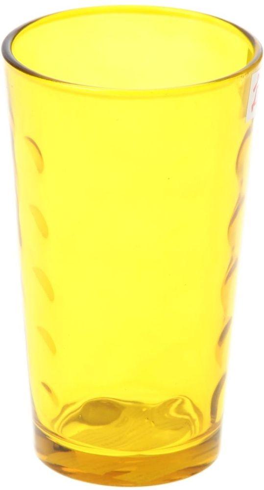 Стакан Доляна Маскарад, цвет: желтый, 340 мл335160Стеклянные изделия серии «Маскарад» подходят для повседневного использования. Стакан из стекла, окрашенного в яркий цвет методом напыления, порадует каждого ценителя оригинальности. Достоинства: оригинальный дизайн делает предмет украшением интерьера; материал не впитывает запахов; поверхность легко отмывается. Чтобы предмет радовал внешним видом как можно дольше, соблюдайте правила ухода: мойте только вручную; избегайте использования высокоабразивных средств и металлических губок; не допускайте падений и ударов. Окружайте себя красивой посудой и будьте в хорошем настроении!