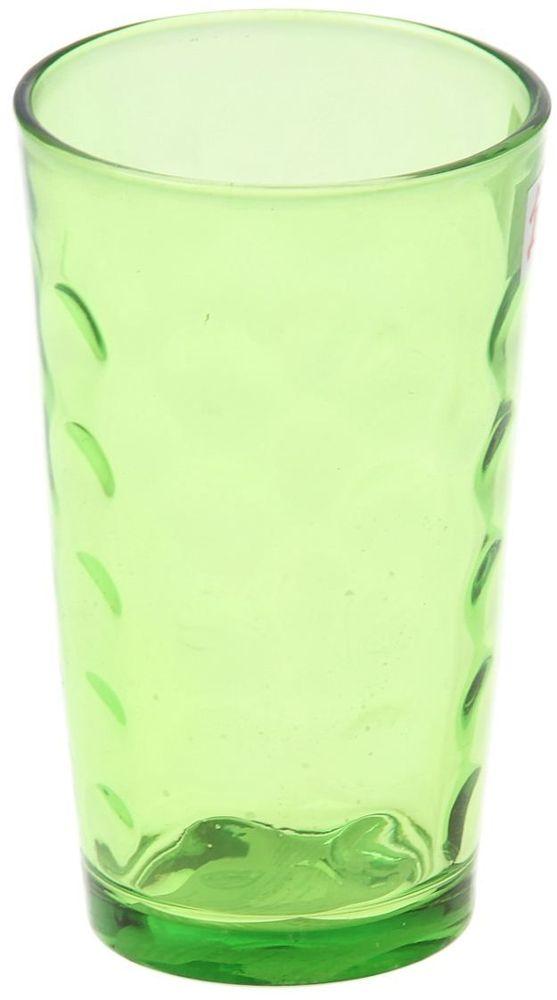 Стакан Доляна Маскарад, цвет: зеленый, 340 мл335162Стеклянные изделия серии «Маскарад» подходят для повседневного использования. Стакан из стекла, окрашенного в яркий цвет методом напыления, порадует каждого ценителя оригинальности. Достоинства: оригинальный дизайн делает предмет украшением интерьера; материал не впитывает запахов; поверхность легко отмывается. Чтобы предмет радовал внешним видом как можно дольше, соблюдайте правила ухода: мойте только вручную; избегайте использования высокоабразивных средств и металлических губок; не допускайте падений и ударов. Окружайте себя красивой посудой и будьте в хорошем настроении!