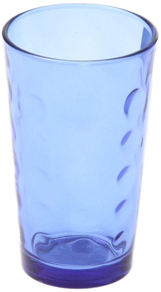Стакан Доляна Маскарад, цвет: синий, 340 мл335163Стеклянные изделия серии «Маскарад» подходят для повседневного использования. Стакан из стекла, окрашенного в яркий цвет методом напыления, порадует каждого ценителя оригинальности. Достоинства: оригинальный дизайн делает предмет украшением интерьера; материал не впитывает запахов; поверхность легко отмывается. Чтобы предмет радовал внешним видом как можно дольше, соблюдайте правила ухода: мойте только вручную; избегайте использования высокоабразивных средств и металлических губок; не допускайте падений и ударов. Окружайте себя красивой посудой и будьте в хорошем настроении!