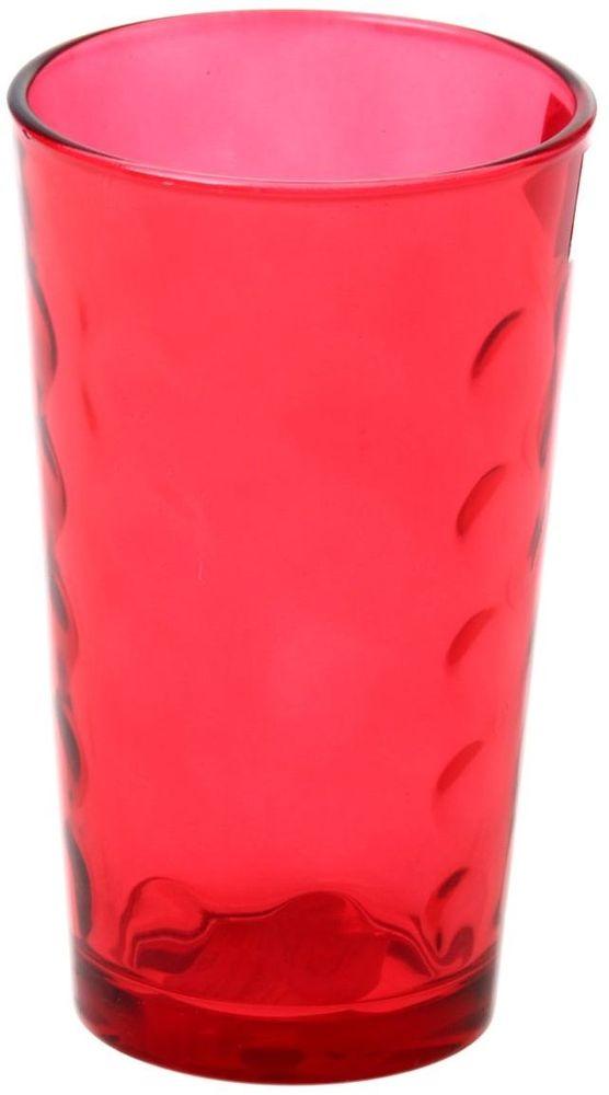 Стакан Доляна Маскарад, цвет: красный, 340 мл335165Стеклянные изделия серии «Маскарад» подходят для повседневного использования. Стакан из стекла, окрашенного в яркий цвет методом напыления, порадует каждого ценителя оригинальности. Достоинства: оригинальный дизайн делает предмет украшением интерьера; материал не впитывает запахов; поверхность легко отмывается. Чтобы предмет радовал внешним видом как можно дольше, соблюдайте правила ухода: мойте только вручную; избегайте использования высокоабразивных средств и металлических губок; не допускайте падений и ударов. Окружайте себя красивой посудой и будьте в хорошем настроении!