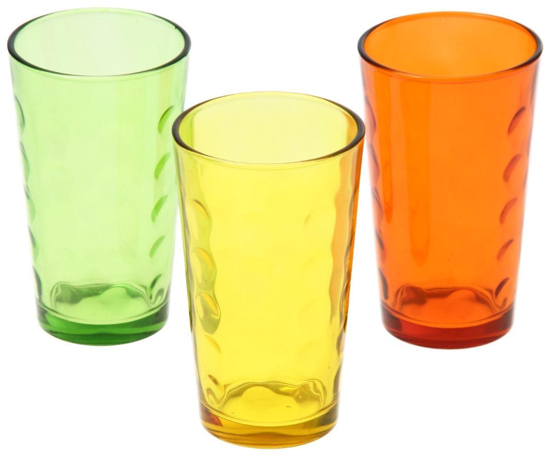 Набор стаканов Доляна Маскарад. Осень, 340 мл, 3 шт335167Стеклянные изделия серии «Маскарад» подходят для повседневного использования. Стакан из стекла, окрашенного в яркий цвет методом напыления, порадует каждого ценителя оригинальности. Достоинства: оригинальный дизайн делает предмет украшением интерьера; материал не впитывает запахов; поверхность легко отмывается. Чтобы предмет радовал внешним видом как можно дольше, соблюдайте правила ухода: мойте только вручную; избегайте использования высокоабразивных средств и металлических губок; не допускайте падений и ударов. Окружайте себя красивой посудой и будьте в хорошем настроении!