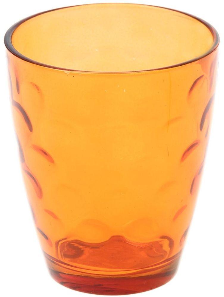 Стакан Доляна Венский вальс, цвет: оранжевый, 400 мл335169Стеклянные изделия серии «Венский вальс» подходят для повседневного использования. Стакан из стекла, окрашенного в яркий цвет методом напыления, порадует каждого ценителя оригинальности. Достоинства: оригинальный дизайн делает предметы украшением интерьера; материал не впитывает запахов; поверхность легко отмывается. Чтобы предметы радовали внешним видом как можно дольше, соблюдайте правила ухода: мойте только вручную; избегайте использования высокоабразивных средств и металлических губок; не допускайте падений и ударов. Окружайте себя красивой посудой и будьте в хорошем настроении!