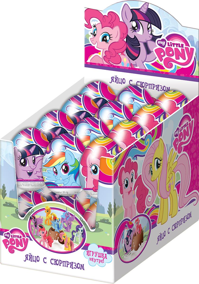 """Конфитрейд """"My Little Pony"""" молочный шоколад с сюрпризом, 24 шт по 20 г УТ18015"""