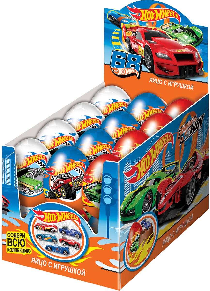 Hot Wheels молочный шоколад с сюрпризом, 24 шт по 20 гУТ18652Популярный тренд среди мальчишек всех возрастов! Натуральный молочный шоколад. Уменьшенные копии реально существующих автомобилей! Коллекция из 5 авто! Высокое качество исполнения!