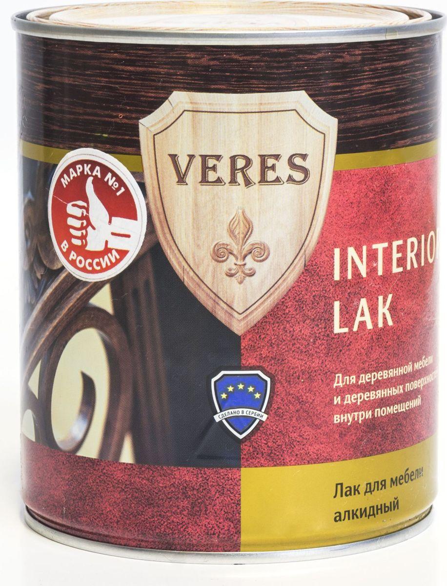 """Лак алкидный интерьерный """"Veres"""", полуматовый, 0,75 л"""