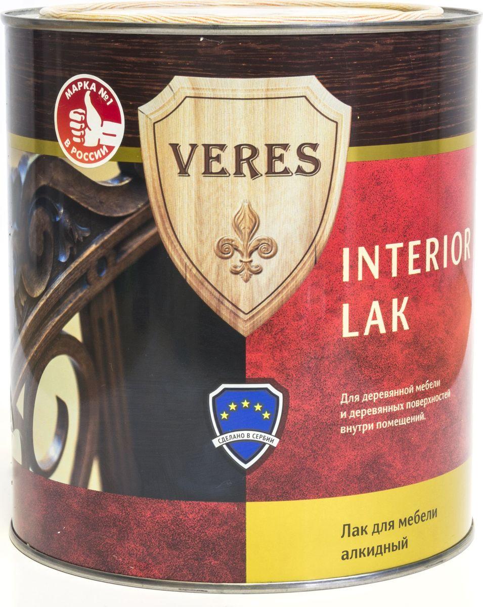 """Лак алкидный интерьерный """"Veres"""", полуматовый, 2,5 л"""
