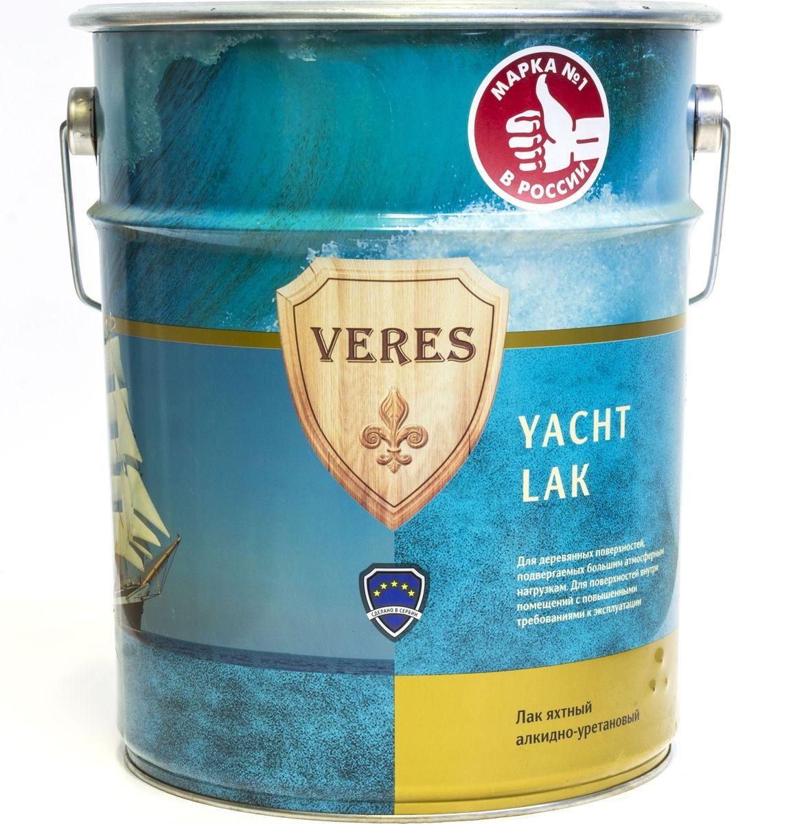 """Лак алкидный яхтный """"Veres"""", полуматовый, 10 л"""