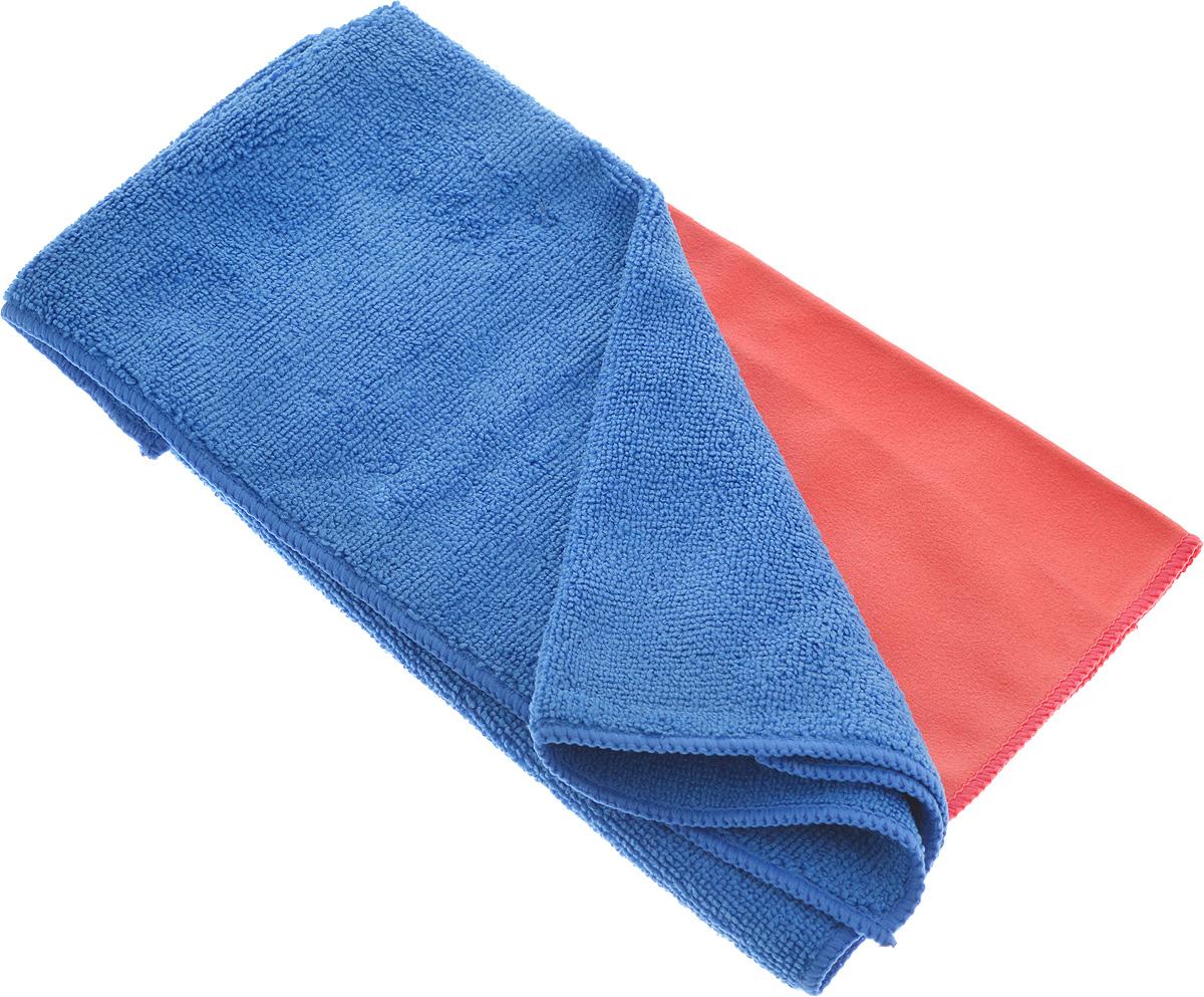 Салфетка чистящая Sapfire Cleaning Сloth & Suede, цвет: коралловый, синий, 35 х 40 см, 2 шт3069-SFM_коралловый/синийБлагодаря своей уникальной ворсовой структуре, салфетки Sapfire Cleaning Сloth прекрасно подходят для мытья и полировки автомобиля. Материал салфеток: микрофибра (85% полиэстер и 15% полиамид), обладает уникальной способностью быстро впитывать большой объем жидкости. Клиновидные микроскопические волокна захватывают и легко удерживают частички пыли, жировой и никотиновый налет, микроорганизмы, в том числе болезнетворные и вызывающие аллергию. Протертая поверхность становится идеально чистой, сухой, блестящей, без разводов и ворсинок. Допускается машинная и ручная стирка слабым моющим раствором в теплой воде. Отбеливание и глажка запрещены. Размер салфеток: 35 х 40 см.