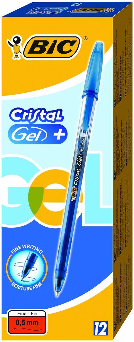 Bic Ручка гелевая Crystal Gel цвет синийB905489Гелевая ручка BIC Cristal Gel с чернилами на водной основе, отлично подойдет для любителей гелевых ручек. Яркий цвет и мягкое письмо. Тонкая линия письма - 0,36мм. Полупрозрачный корпус позволит видеть уровень чернил. Гелевая ручка Bic Cristal Gel с тонким пишущим узлом. Дизайн с эффектом металлик, а также удобная область грипа для более комфортного письма. Пишущий узел диаметром 0,5 мм. позволяет чертить красивые тонкие линии. Цвет чернил - синий.