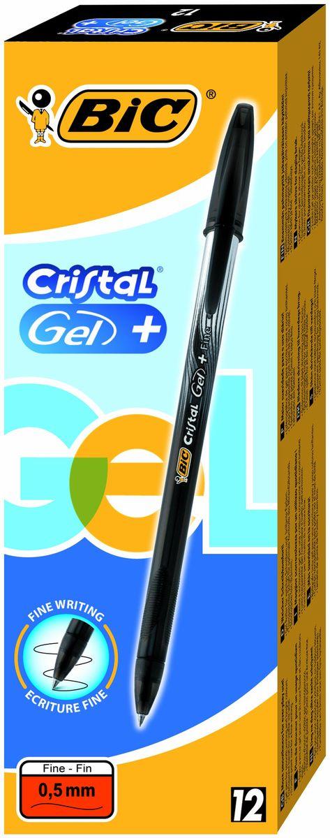 Bic Ручка гелевая Crystal Gel цвет черныйB905490Гелевая ручка BIC Cristal Gel с чернилами на водной основе, отлично подойдет для любителей гелевых ручек. Яркий цвет и мягкое письмо. Тонкая линия письма - 0,36мм. Полупрозрачный корпус позволит видеть уровень чернил. Гелевая ручка Bic Cristal Gel с тонким пишущим узлом. Дизайн с эффектом металлик, а также удобная область грипа для более комфортного письма. Пишущий узел диаметром 0,5 мм. позволяет чертить красивые тонкие линии. Цвет чернил - черный.