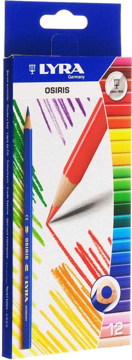 Lyra Набор цветных карандашей Osiris 12 штL2521120Цветные карандаши Lyra Osiris понравятся вашему юному художнику. Набор включает в себя 12 ярких насыщенных цветных карандашей треугольной формы для удобного захвата. Карандаши изготовлены из дерева, экологически чистые. Имеют прочный неломающийся грифель, не требующий сильного нажатия, легко затачиваются.