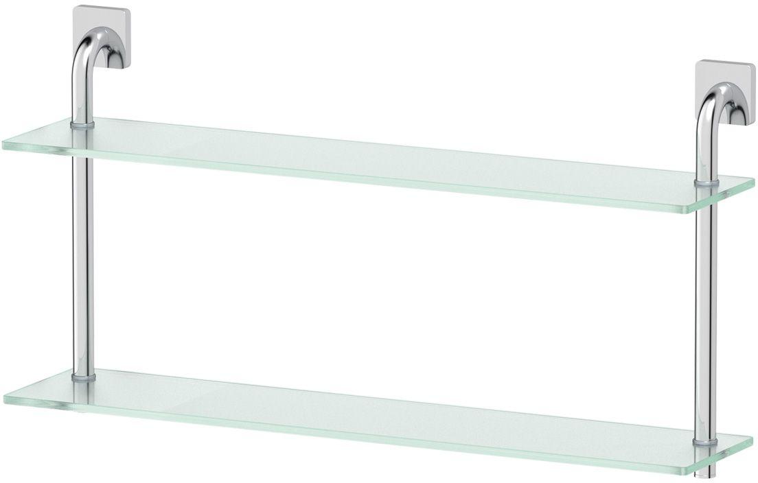 Полка для ванной Ellux Avantgarde, 2-х ярусная, 70 см, цвет: матовое стекло, хром. AVA 038AVA 038Аксессуары торговой марки Ellux производятся на заводе ELLUX Gluck s.r.o., имеющем 20-летний опыт работы. Предприятие расположено в Злинском крае, исторически знаменитом своим промышленным потенциалом. Компоненты из всемирно известного богемского хрусталя выгодно дополняют серии аксессуаров. Широкий ассортимент, разнообразие форм, высочайшее качество исполнения и техническое?совершенство продукции отвечают самым высоким требованиям. Продукция завода Ellux представлена на российском рынке уже более 10 лет и за это время успела завоевать заслуженную популярность у покупателей, отдающих предпочтение дорогой и качественной продукции. 100% made in Czech Republic Весь цикл производства изделий осуществляется на территории Чешской республики. В производстве полок используется высококачественное матированное стекло марки Satinovo Mate Clear. Saint-Gobain Glass признанный мировой лидер в производстве высококачественного стекла, поэтому для производства стеклянных полок применяется...