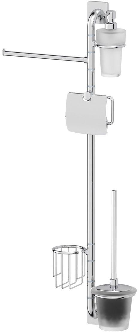 Штанга комбинированная для туалета с биде Ellux Avantgarde, цвет: хром. AVA 076AVA 076Аксессуары торговой марки Ellux производятся на заводе ELLUX Gluck s.r.o., имеющем 20-летний опыт работы. Предприятие расположено в Злинском крае, исторически знаменитом своим промышленным потенциалом. Компоненты из всемирно известного богемского хрусталя выгодно дополняют серии аксессуаров. Широкий ассортимент, разнообразие форм, высочайшее качество исполнения и техническое?совершенство продукции отвечают самым высоким требованиям. Продукция завода Ellux представлена на российском рынке уже более 10 лет и за это время успела завоевать заслуженную популярность у покупателей, отдающих предпочтение дорогой и качественной продукции. 100% made in Czech Republic Весь цикл производства изделий осуществляется на территории Чешской республики. Высококачественная латунь, используемая в производстве аксессуаров, позволяет добиваться идеального результата в готовом изделии. Варианты комплектации. Покупателям предоставляется возможность выбирать хрустальные компоненты (стакан,...