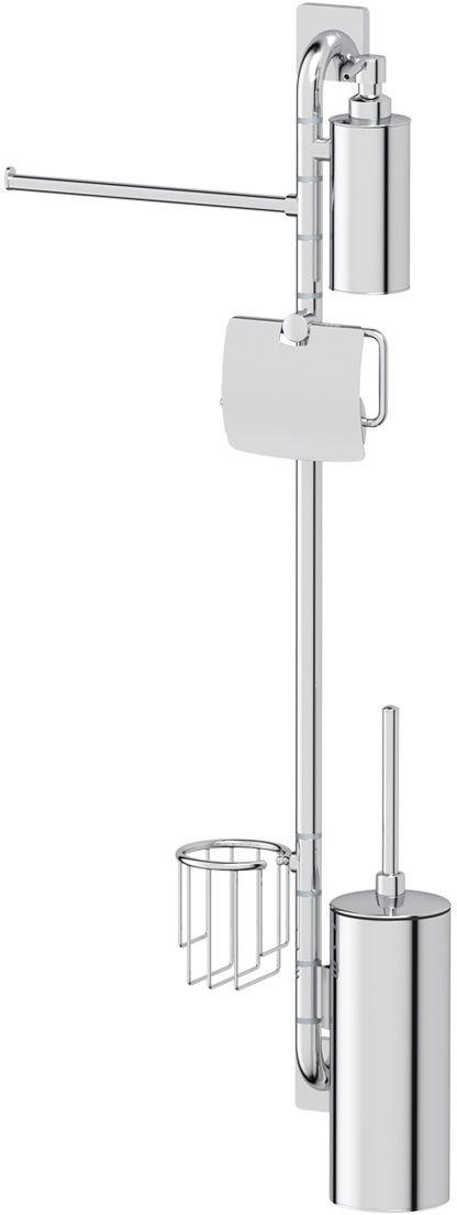 Штанга комбинированная для туалета с биде Ellux Avantgarde, цвет: хром. AVA 079AVA 079Аксессуары торговой марки Ellux производятся на заводе ELLUX Gluck s.r.o., имеющем 20-летний опыт работы. Предприятие расположено в Злинском крае, исторически знаменитом своим промышленным потенциалом. Компоненты из всемирно известного богемского хрусталя выгодно дополняют серии аксессуаров. Широкий ассортимент, разнообразие форм, высочайшее качество исполнения и техническое?совершенство продукции отвечают самым высоким требованиям. Продукция завода Ellux представлена на российском рынке уже более 10 лет и за это время успела завоевать заслуженную популярность у покупателей, отдающих предпочтение дорогой и качественной продукции. 100% made in Czech Republic Весь цикл производства изделий осуществляется на территории Чешской республики. Высококачественная латунь — дорогостоящий многокомпонентный медный сплав с основным легирующим элементом – цинком. Обладает высокой прочностью и коррозионной стойкостью. Считается лучшим материалом для изготовления аксессуаров, смесителей и...