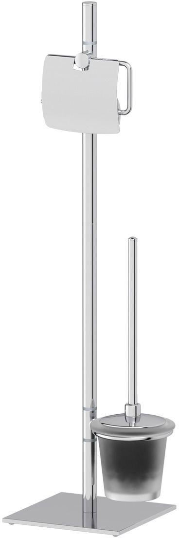 Стойка для туалета Ellux Domino, с 2-мя аксессуарами, 72 см, цвет: матовый хрусталь, хром. DOM 007DOM 007Аксессуары торговой марки Ellux производятся на заводе ELLUX Gluck s.r.o., имеющем 20-летний опыт работы. Предприятие расположено в Злинском крае, исторически знаменитом своим промышленным потенциалом. Компоненты из всемирно известного богемского хрусталя выгодно дополняют серии аксессуаров. Широкий ассортимент, разнообразие форм, высочайшее качество исполнения и техническое?совершенство продукции отвечают самым высоким требованиям. Продукция завода Ellux представлена на российском рынке уже более 10 лет и за это время успела завоевать заслуженную популярность у покупателей, отдающих предпочтение дорогой и качественной продукции. 100% made in Czech Republic Весь цикл производства изделий осуществляется на территории Чешской республики. Высококачественная латунь, используемая в производстве аксессуаров, позволяет добиваться идеального результата в готовом изделии. Варианты комплектации. Покупателям предоставляется возможность выбирать хрустальные компоненты (стакан,...
