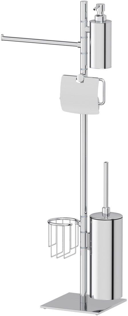 Стойка для туалета с биде Ellux Domino, c 5-ю аксессуарами, 86 см, цвет: хром. DOM 011DOM 011Аксессуары торговой марки Ellux производятся на заводе ELLUX Gluck s.r.o., имеющем 20-летний опыт работы. Предприятие расположено в Злинском крае, исторически знаменитом своим промышленным потенциалом. Компоненты из всемирно известного богемского хрусталя выгодно дополняют серии аксессуаров. Широкий ассортимент, разнообразие форм, высочайшее качество исполнения и техническое?совершенство продукции отвечают самым высоким требованиям. Продукция завода Ellux представлена на российском рынке уже более 10 лет и за это время успела завоевать заслуженную популярность у покупателей, отдающих предпочтение дорогой и качественной продукции. 100% made in Czech Republic Весь цикл производства изделий осуществляется на территории Чешской республики. Высококачественная латунь — дорогостоящий многокомпонентный медный сплав с основным легирующим элементом – цинком. Обладает высокой прочностью и коррозионной стойкостью. Считается лучшим материалом для изготовления аксессуаров, смесителей и...