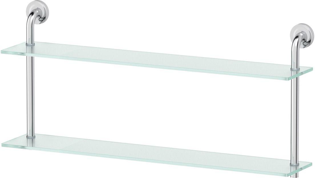 Полка для ванной Ellux Elegance, 2-х ярусная, 80 см, цвет: матовое стекло, хром. ELE 039ELE 039Аксессуары торговой марки Ellux производятся на заводе ELLUX Gluck s.r.o., имеющем 20-летний опыт работы. Предприятие расположено в Злинском крае, исторически знаменитом своим промышленным потенциалом. Компоненты из всемирно известного богемского хрусталя выгодно дополняют серии аксессуаров. Широкий ассортимент, разнообразие форм, высочайшее качество исполнения и техническое?совершенство продукции отвечают самым высоким требованиям. Продукция завода Ellux представлена на российском рынке уже более 10 лет и за это время успела завоевать заслуженную популярность у покупателей, отдающих предпочтение дорогой и качественной продукции. 100% made in Czech Republic Весь цикл производства изделий осуществляется на территории Чешской республики. В производстве полок используется высококачественное матированное стекло марки Satinovo Mate Clear. Saint-Gobain Glass признанный мировой лидер в производстве высококачественного стекла, поэтому для производства стеклянных полок применяется...