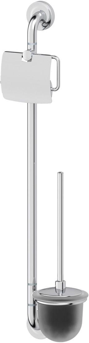 Штанга комбинированная для туалета Ellux Elegance, цвет: хром. ELE 074ELE 074Аксессуары торговой марки Ellux производятся на заводе ELLUX Gluck s.r.o., имеющем 20-летний опыт работы. Предприятие расположено в Злинском крае, исторически знаменитом своим промышленным потенциалом. Компоненты из всемирно известного богемского хрусталя выгодно дополняют серии аксессуаров. Широкий ассортимент, разнообразие форм, высочайшее качество исполнения и техническое?совершенство продукции отвечают самым высоким требованиям. Продукция завода Ellux представлена на российском рынке уже более 10 лет и за это время успела завоевать заслуженную популярность у покупателей, отдающих предпочтение дорогой и качественной продукции. 100% made in Czech Republic Весь цикл производства изделий осуществляется на территории Чешской республики. Высококачественная латунь, используемая в производстве аксессуаров, позволяет добиваться идеального результата в готовом изделии. Варианты комплектации. Покупателям предоставляется возможность выбирать хрустальные компоненты (стакан,...