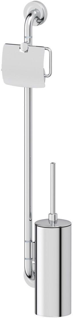 Штанга комбинированная для туалета Ellux Elegance, цвет: хром. ELE 077ELE 077Аксессуары торговой марки Ellux производятся на заводе ELLUX Gluck s.r.o., имеющем 20-летний опыт работы. Предприятие расположено в Злинском крае, исторически знаменитом своим промышленным потенциалом. Компоненты из всемирно известного богемского хрусталя выгодно дополняют серии аксессуаров. Широкий ассортимент, разнообразие форм, высочайшее качество исполнения и техническое?совершенство продукции отвечают самым высоким требованиям. Продукция завода Ellux представлена на российском рынке уже более 10 лет и за это время успела завоевать заслуженную популярность у покупателей, отдающих предпочтение дорогой и качественной продукции. 100% made in Czech Republic Весь цикл производства изделий осуществляется на территории Чешской республики. Высококачественная латунь — дорогостоящий многокомпонентный медный сплав с основным легирующим элементом – цинком. Обладает высокой прочностью и коррозионной стойкостью. Считается лучшим материалом для изготовления аксессуаров, смесителей и...