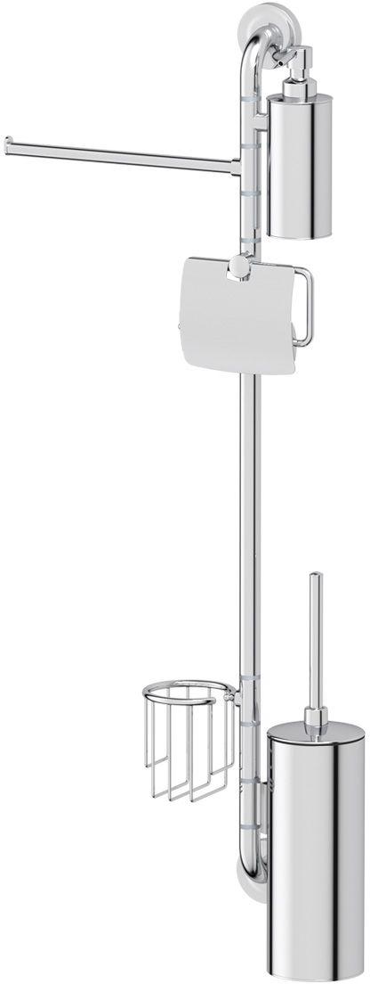 Штанга комбинированная для туалета с биде Ellux Elegance, цвет: хром. ELE 079ELE 079Аксессуары торговой марки Ellux производятся на заводе ELLUX Gluck s.r.o., имеющем 20-летний опыт работы. Предприятие расположено в Злинском крае, исторически знаменитом своим промышленным потенциалом. Компоненты из всемирно известного богемского хрусталя выгодно дополняют серии аксессуаров. Широкий ассортимент, разнообразие форм, высочайшее качество исполнения и техническое?совершенство продукции отвечают самым высоким требованиям. Продукция завода Ellux представлена на российском рынке уже более 10 лет и за это время успела завоевать заслуженную популярность у покупателей, отдающих предпочтение дорогой и качественной продукции. 100% made in Czech Republic Весь цикл производства изделий осуществляется на территории Чешской республики. Высококачественная латунь — дорогостоящий многокомпонентный медный сплав с основным легирующим элементом – цинком. Обладает высокой прочностью и коррозионной стойкостью. Считается лучшим материалом для изготовления аксессуаров, смесителей и...