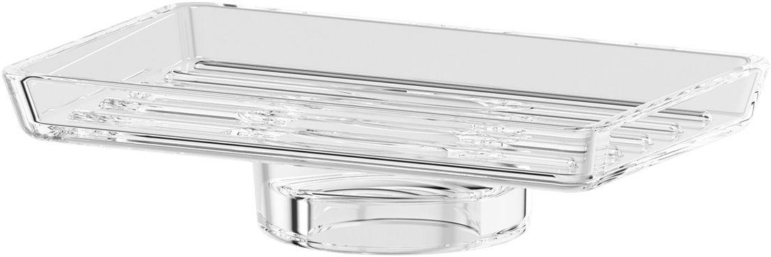 Мыльница Ellux, для AVA, цвет: хрусталь. ELU 007ELU 007Аксессуары торговой марки Ellux производятся на заводе ELLUX Gluck s.r.o., имеющем 20-летний опыт работы. Предприятие расположено в Злинском крае, исторически знаменитом своим промышленным потенциалом. Компоненты из всемирно известного богемского хрусталя выгодно дополняют серии аксессуаров. Широкий ассортимент, разнообразие форм, высочайшее качество исполнения и техническое?совершенство продукции отвечают самым высоким требованиям. Продукция завода Ellux представлена на российском рынке уже более 10 лет и за это время успела завоевать заслуженную популярность у покупателей, отдающих предпочтение дорогой и качественной продукции. 100% made in Czech Republic Весь цикл производства изделий осуществляется на территории Чешской республики. Богемский хрусталь знаменитой фабрики Crystal Bohemia, a.s., используемый в производстве стеклянных компонентов аксессуаров, подчеркивает благородство продукции завода ELLUX. Высококачественная латунь, используемая в производстве...